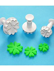 quatro c coração por coração forma plástico cortador sugarcraft êmbolo ajuste 3, bolo clássico ferramentas de decoração