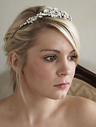 cheap -Material Crystal Rhinestone Silver Plated Alloy Headpiece with Crystal Wedding Party Headpiece