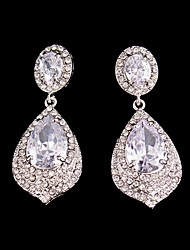 cheap -Women's Crystal - Drops Silver Alloy For