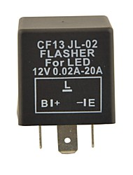 CF13 Car Condenser Auto Control Device / Flasher for LED (DC11~15V 0.02~20A)