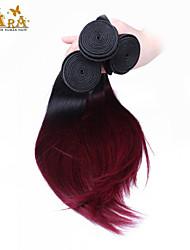 """Недорогие -3pcs / lot 10 """"-24"""" индийские виргинские волосы 100g / piece цвет 1b / 99j прямые человеческие волосы переплетаются"""
