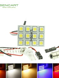 cheap -T10  BA9S SV8.5 G4 LED  2.5W  Blue/Red/Warm White/Yellow/White 12X5050SMD LED 140LM  for Car Light Bulb  (DC12-16V)