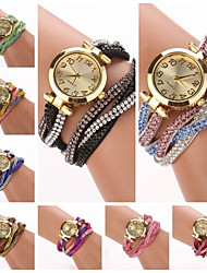 cheap -Women's Bracelet Watch Hot Sale PU Band Charm / Fashion Multi-Colored