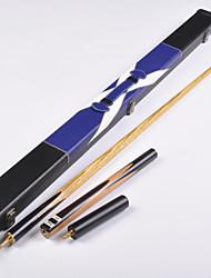 Tre quarti due pezzi Cue Cue Sticks & Accessori English Biliardo Blu Snooker Legno