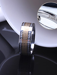 cheap -Personalized Gift Unisex Ring Stainless Steel Engraved Jewelry