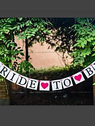 abordables -Despedida de Soltera Papel perlado Papel duro Decoraciones de la boda Tema Jardín Tema Clásico Primavera Verano Otoño Invierno