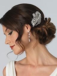 Mujer Niña de flor Plata esterlina Cristal Aleación Celada-Boda Ocasión especial Peinetas Flores