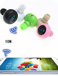 trådløse sport headset anti-stråling mini stereo bluetooth in-ear øretelefon til iphone 6 / 6plus s6 (assorteret farve)