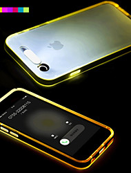 cheap -Case For Apple iPhone 6 Plus / iPhone 6 LED Flash Lighting / Transparent Back Cover Solid Colored Soft TPU for iPhone 6s Plus / iPhone 6s / iPhone 6 Plus