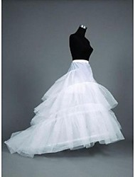 Wedding Special Occasion Slips Polyester Floor-length Cathedral-Length Mermaid and Trumpet Gown Slip Chapel Train With