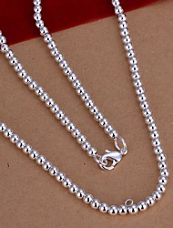 cheap -Women's Sterling Silver Chain Necklace  -  Simple Style Necklace For Wedding Party Daily