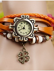 SOHA Korean trendy women clover Bracelet Watch