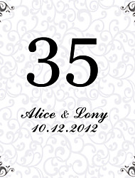 cheap -Personalized Square Table Number Card--Hope (Set of 10)