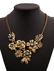 Жен. Заявление ожерелья В форме цветка Сплав Цветочный дизайн Цветы Цветочный принт Бижутерия Назначение Свадьба Особые случаи Вечеринка