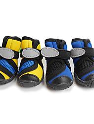 Gato Cachorro Sapatos e Botas Prova-de-Água Sólido Amarelo Azul Para animais de estimação