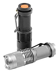 cheap -SK68 LED Flashlights / Torch LED 1200 lm 1 Mode Cree XR-E Q5 Zoomable Adjustable Focus Waterproof Multifunction Black Silver Iron