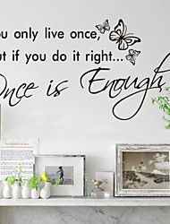 cheap -You Only Live Once Home Decoration  Wall Decals Zooyoo8144 Decorative Removable Vinyl Wall Stickers
