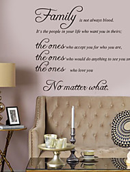 wall stickers wall decals stil fanily engelske ord& citerer pvc wall stickers