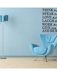pensar profundamente falar suavemente amo muito decalque da parede Citação zooyoo8031 decorativo removível vinil adesivo de parede diy