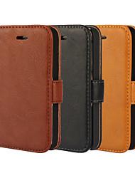 Per Custodia iPhone 5 A portafoglio / Porta-carte di credito / Con supporto / Con chiusura magnetica Custodia Integrale CustodiaTinta