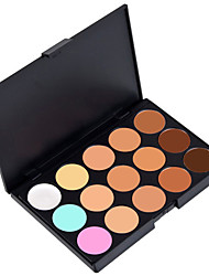 cheap -15 Colors 3in1  Eyeshadow Palett Professional Camouflage Natural Facial Concealer/Foundation/Bronzer Makeup Cosmetic Palette