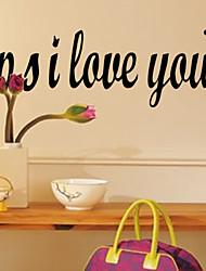 PS Ich liebe dich Aufkleber zooyoo8180 dekorative DIY adesivo de parede abnehmbare Vinyl-Wandaufkleber Wand