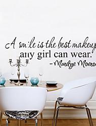 Недорогие -улыбка лучшие макияж домашнего декора стен наклейки zy8129 декоративные ADESIVO де Parede съемный виниловые наклейки