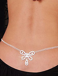 cheap -Belly Chain / Body Chain Imitation Diamond Bowknot Unique Design, Fashion Women's White Body Jewelry For Christmas Gifts / Daily / Casual / Rhinestone