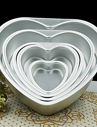 cheap -5 inch Metal Love Heart Shape Cake Mold Detachable Live Bottom Pastry Mould