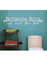 casa de banho casa decoração decalques de parede zooyoo8044 Adesivo de Parede de vinil adesivos de parede removível