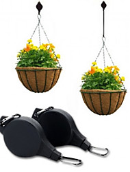 cheap -Easy Reach Plant Pulley Hanging Flower Pot Hanger Holder