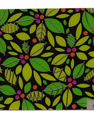 Green Yellow Self Adhensive Metal Nail Tip Stickers Tattoo Acrylic Nails Leaf