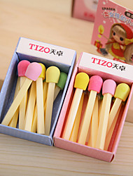 Cute Matchstick Pattern Eraser(Random Colors)