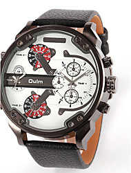 cheap -OULM® Men's  Military Dual Time Zones  PU Watch Cool Watch Unique Watch Fashion Watch
