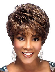 cheap -Synthetic Wig Curly Pixie Cut / With Bangs Synthetic Hair Brown Wig Women's Short Capless