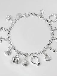 cheap -S925 Silver Bracelet Link Bracelet 13 Pendant Design Bracelets for Women