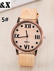 cheap -Women's Fashion Wood Grain Four Digital Quartz Analog Denim Cloth Band Wrist Watch(Assorted Colors) Cool Watches Unique Watches