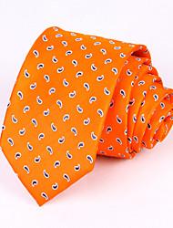 Недорогие -мужская вечеринка / вечерняя свадьба формальный оранжевый кешью шелковый галстук