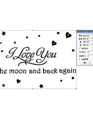 preiswerte -liebe dich zum Mond und zurück againwall Aufkleber zooyoo8116 dekorative adesivo de parede abnehmbare Vinyl-Wandaufkleber