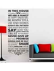 Noi siamo una famiglia della decalcomania della decorazione della casa citazione della parete zy8084 diy adesivo de parede adesivo da