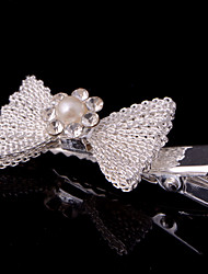 cheap -New Bow Net Barrette With Rhinestone Wedding/Party Headpiece(Set of 4)