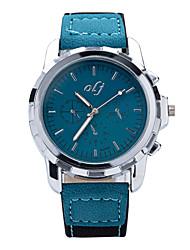 baratos -Homens Relógio de Pulso Impermeável PU Banda Amuleto Azul / Vermelho / Verde