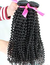 billige -1 Bundle Brasiliansk hår Kinky Curly / Krøllet væv Jomfruhår Menneskehår, Bølget Menneskehår Vævninger Menneskehår Extensions / Kinky Krøller