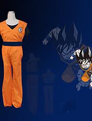 ราคาถูก -แรงบันดาลใจจาก Dragon Ball Son Goku การ์ตูนอานิเมะ คอสเพลย์และคอสตูม ชุดคอสเพลย์ ลายต่อ แขนสั้น เสื้อกั๊ก กางเกง สร้อยข้อมือ เข็มขัด