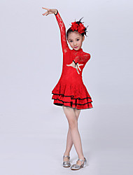 Shall We Latin Dance Dresses Children Fashion Kids Dance Costumes