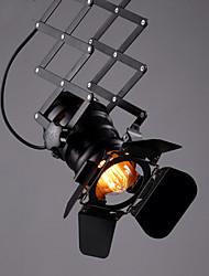 baratos -Sótão do vintage luz do ponto industrial luz pingente preto holofotes loja de roupas lâmpada do teto