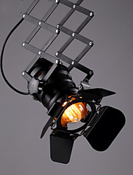 cheap -Vintage Loft Spot Light Industrial Pendant Light Black Spotlights Clothes Store Ceiling Lamp