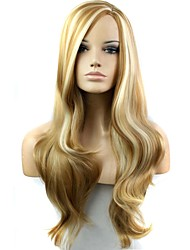 cheap -Synthetic Wig Side Part Highlighted/Balayage Hair Blonde Women's Carnival Wig Halloween Wig Black Wig Long