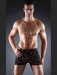cheap -Free Shipping Hot Wholesale Vintage 2015 Spandex Mens Swimsuits Plus Size Swimsuit Men L.XL.XXL.XXXL