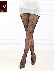 abordables -Collant Fin-Jacquard Femme